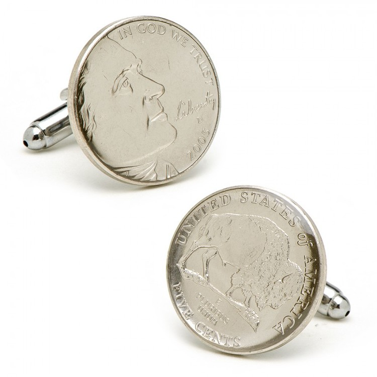 Buffalo Nickel Cufflinks  The buffalo nickel is an iconic symbol for Texas and the southwest. Appropriate for all occasions whether it be a groomsmen gift, a dinner with old friends or the annual fundraiser of your favorite charity, these Buffalo Nickel cufflinks are a class act. So when dressing up for the evening, remember those iconic details that represent Texas so well.