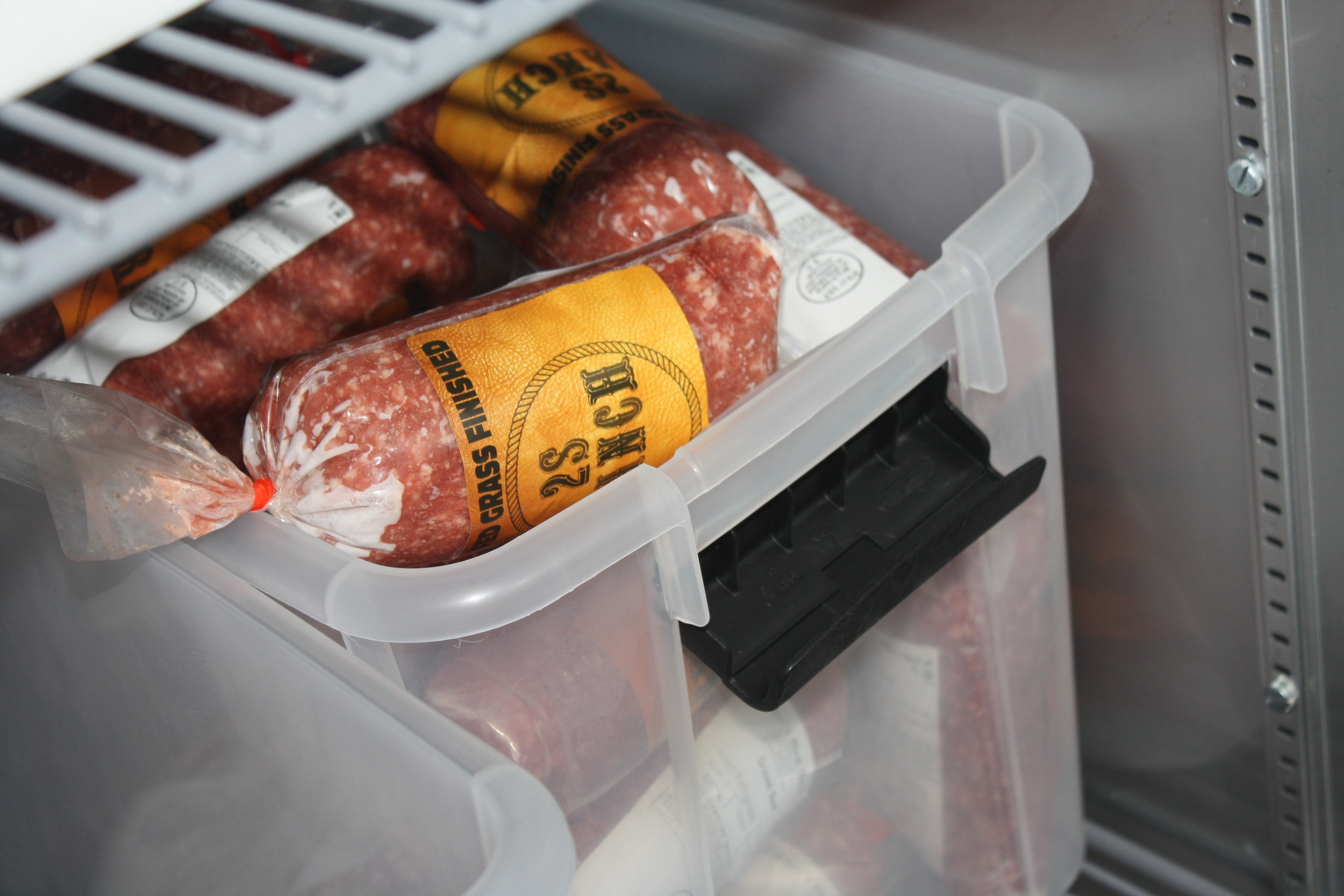All of our beef is hard frozen!