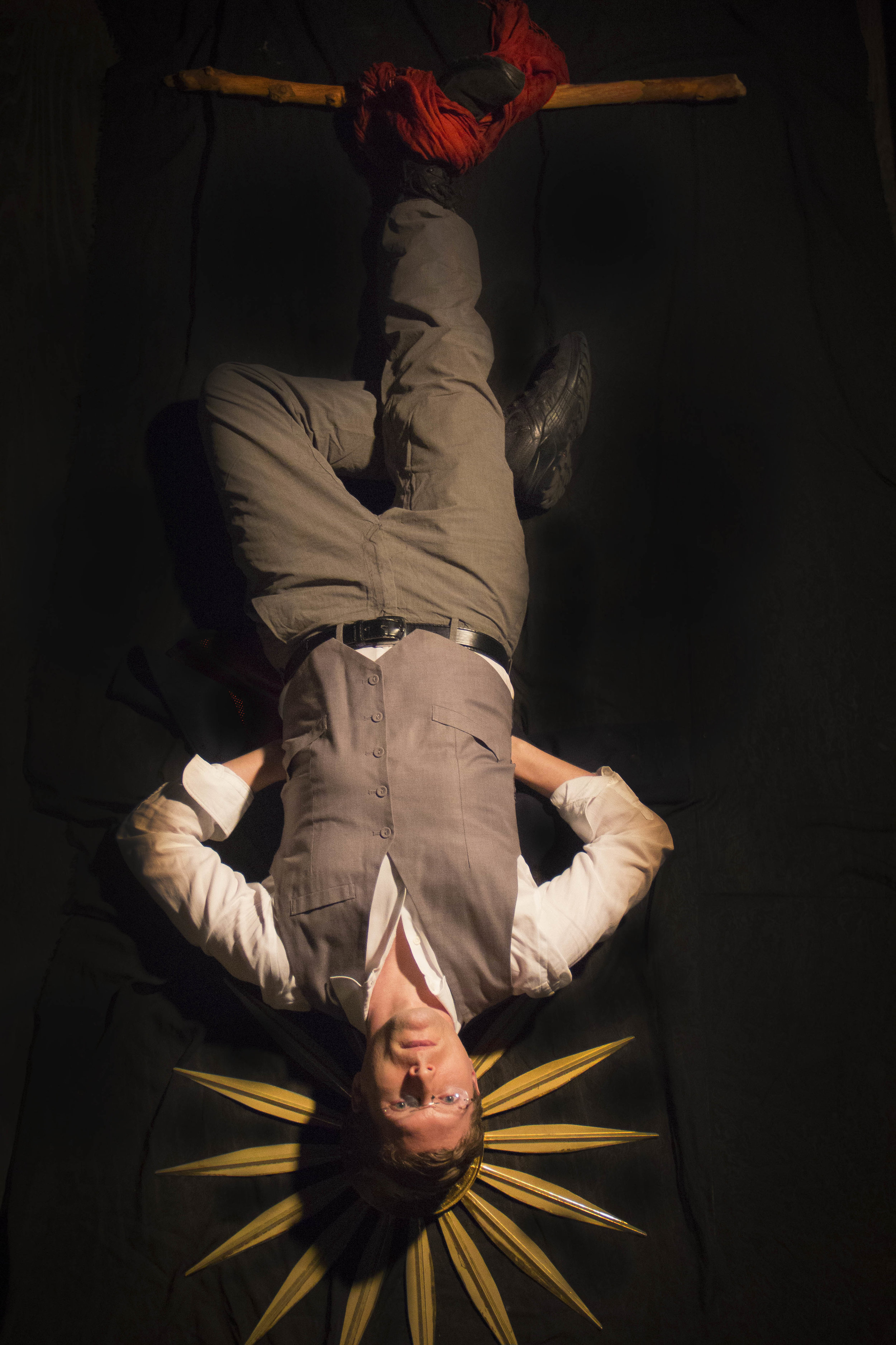 Co-owner Fred Jennings as The Hanged Man