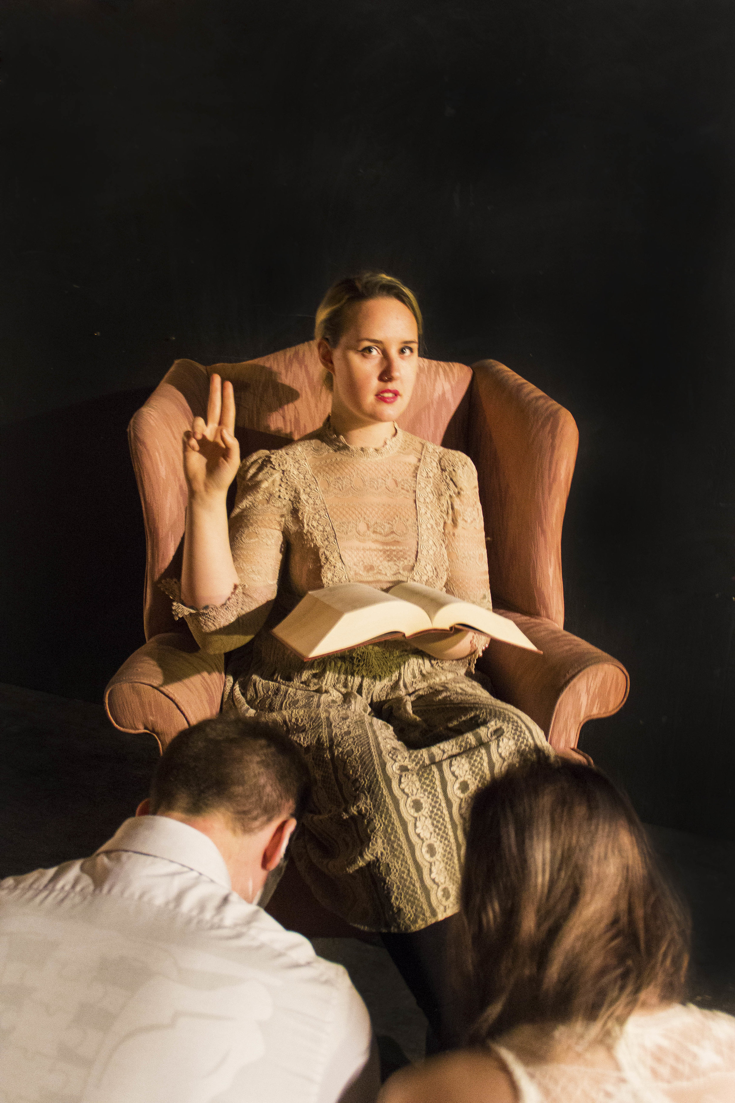 Co-Owner Melissa Madara and novitiates Cooper Wilhelm & Gigi Mead as The Hierophant