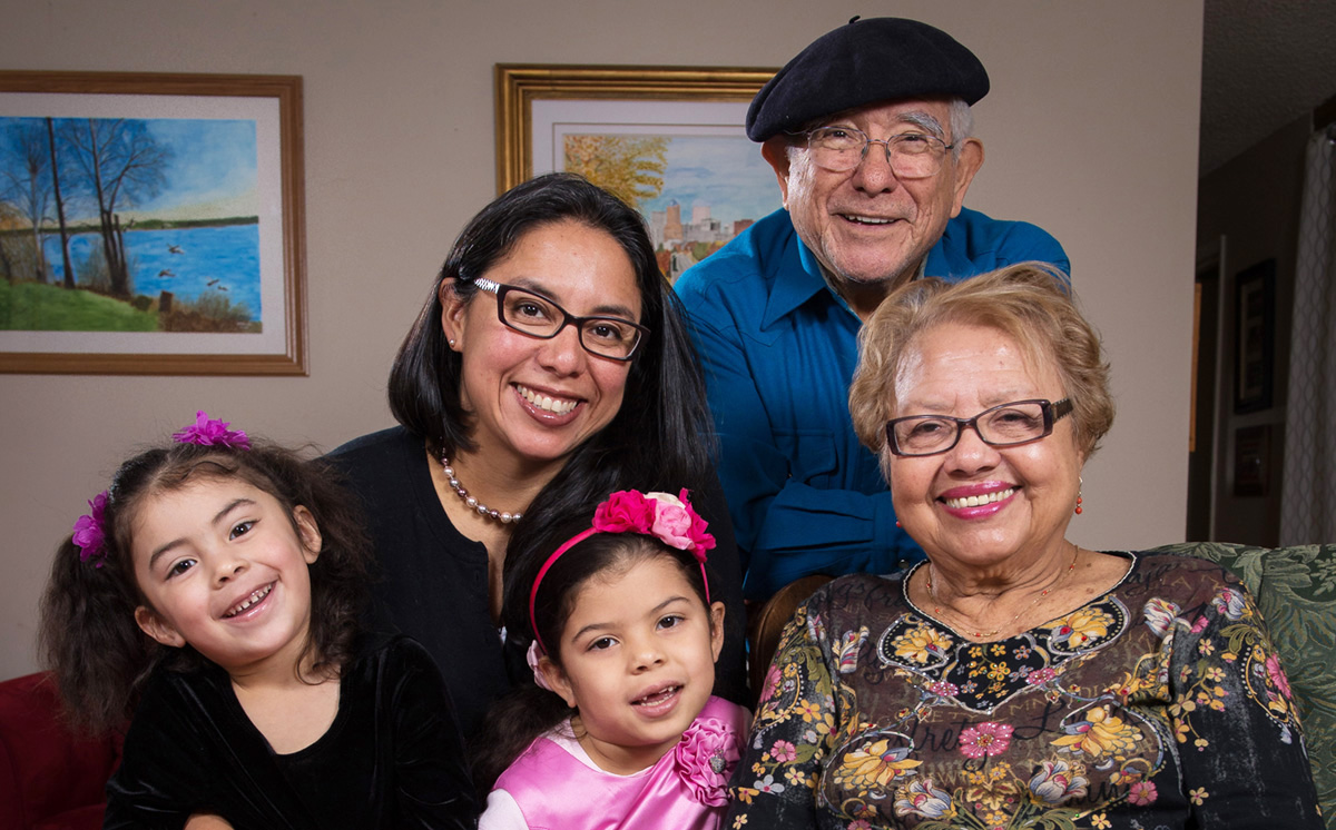 Gladys with her family