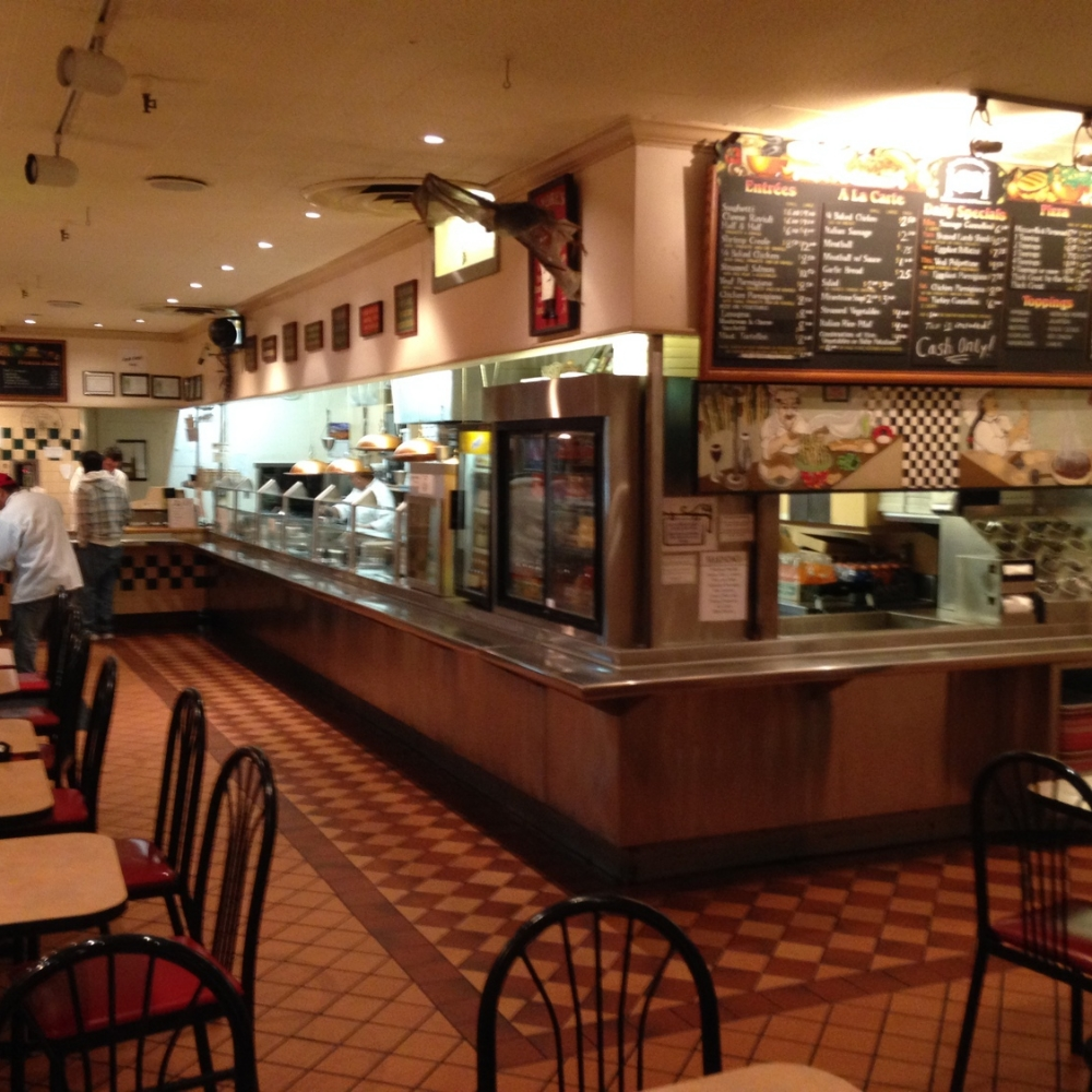 Andre's restaurant's interior and serving area