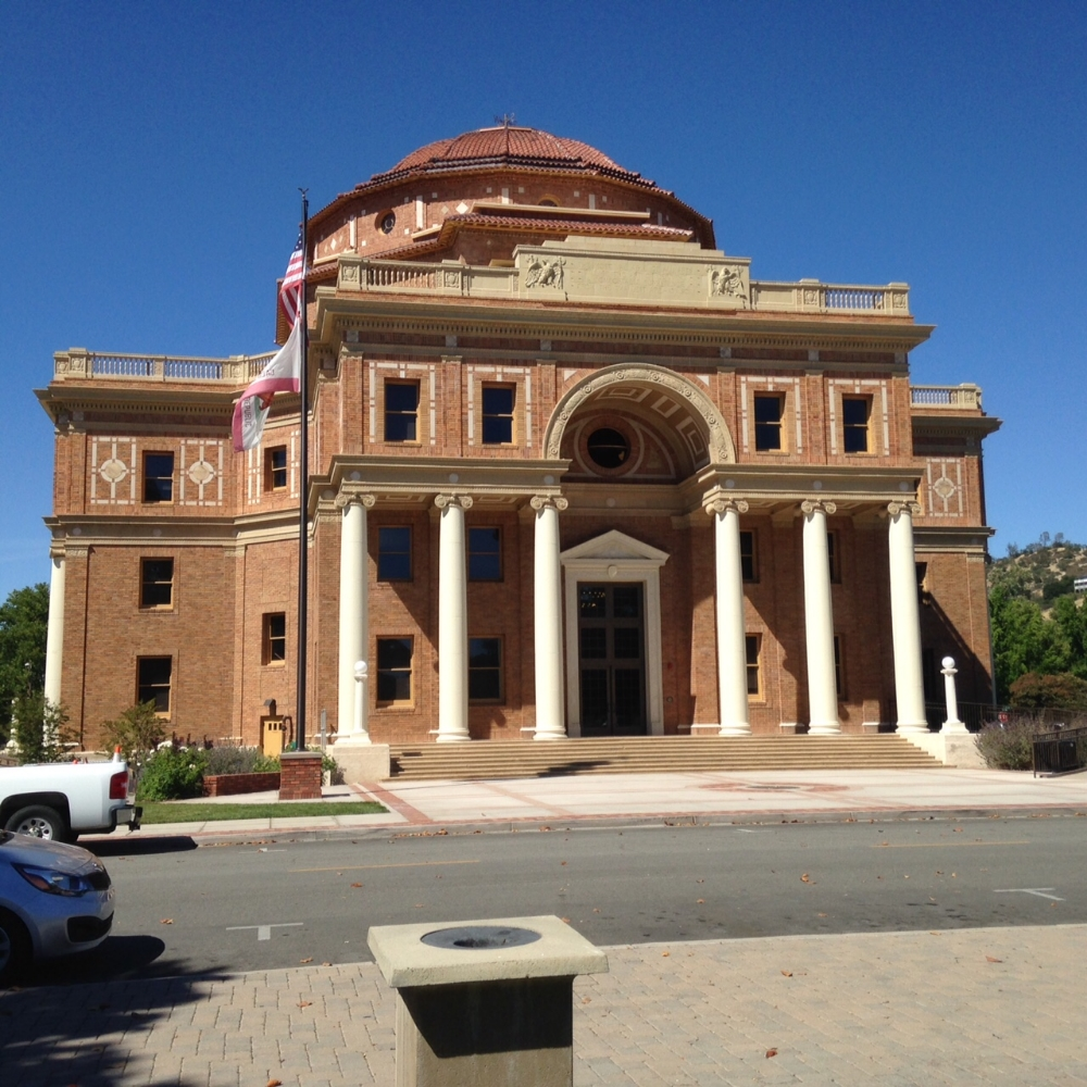 The city hall building, also known as the Rotunda, was built in 1918, damaged by the 2003 San Simeon earthquake, and restored over the next 10 years. RSG is helping the Atascadero Successor Agency market and sell the building that the city used as a temporary city hall during the restoration.