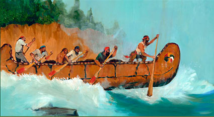 """Photo credit: """"Shooting the Rapids"""" by Robert Hughes Perrizo, courtesy of www.minnesotafunfacts.com"""