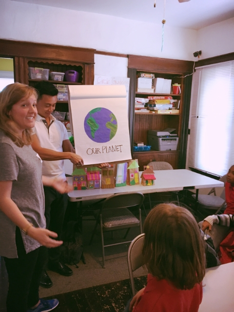 After homework was all done, Evanne and Jeff gave a creative and fun presentation about RSG's passion, community development.