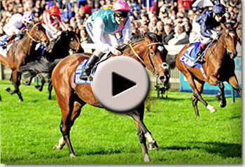 Frankel wins the Dewhurst Stakes