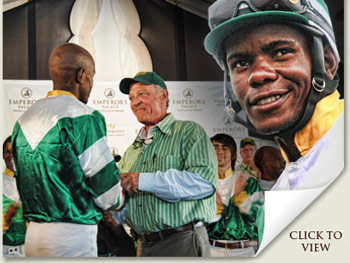 Jockey John Motaung and Kip Elser