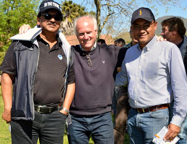 Hassan Adams, Mick Goss and Brian Finch