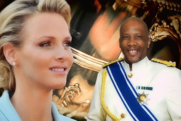 Princess Charlene of Monaco and King Letsie III of Lesotho