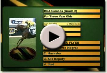 noordhoek flyer winning the kra guineas