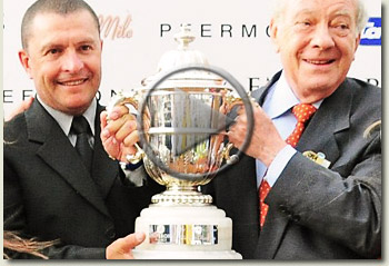 winning trainer gary alexander and owner emilio baisero