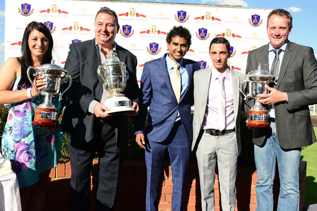 Monique Mansour, Bob Yearham, Vicky Veeramootoo, Donovan Mansour, Johan Janse van Vuuren - Emperors Palace Ready To Run Cup