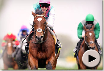 Frankel wins the Sussex Stakes at Glorious Goodwood