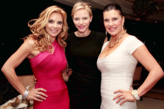 Amor Vittone, Princess Charlene of Monaco and Juanita Mitchell