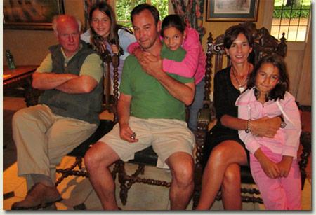 Mick Goss with Gary, Marita, Madison, Georgia and Chelsea Knowles