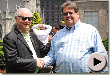 Barry Irwin and Dale Romans at the Belmont Media Luncheon
