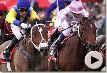 Video of Igugu and Pierre Jourdan fighting out the Vodacom Durban July at Greyville Racecourse, Durban South Africa