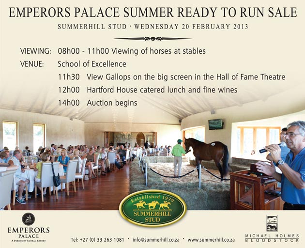 Emperors Palace Summer Ready To Run Sale 2013