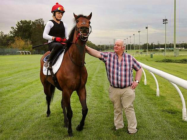 Trainer Tom Hogan with Gordon Lord Byron