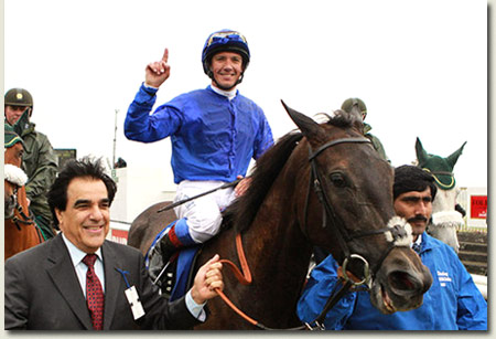 Frankie Dettori aboard Blue Bunting - Irish Oaks