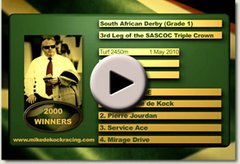 2010 south african derby mike de kock video