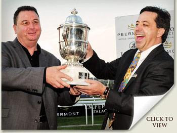 bob yearham and markus jooste with the emperors palace ready to run cup
