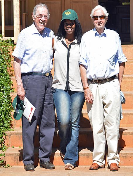 Judge Alan Magid, Hazel Kayiya and Jeremy Jonsson / Leigh Willson (p)