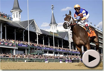 uncle mo wins the breeders cup juvenile at churchill downs racecourse video