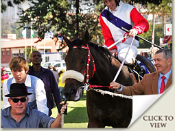 chatanooga chuchu horse with owner richard fitzgerald and trainer garth puller