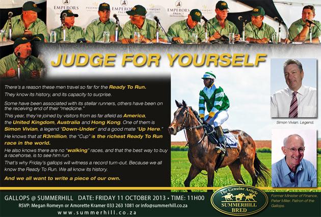 Ready To Run Gallops Judges
