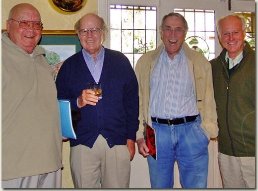 Chips Pennells, Norman Yeats, Alan Magid and Mick Goss