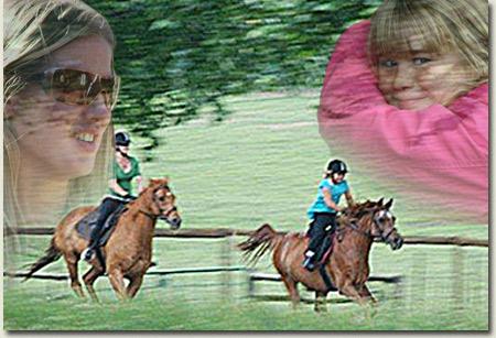 bronwyn goss and hannah goss riding