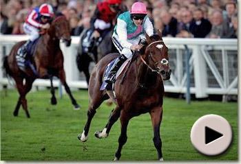 Frankel wins the Queen Elizabeth II Stakes