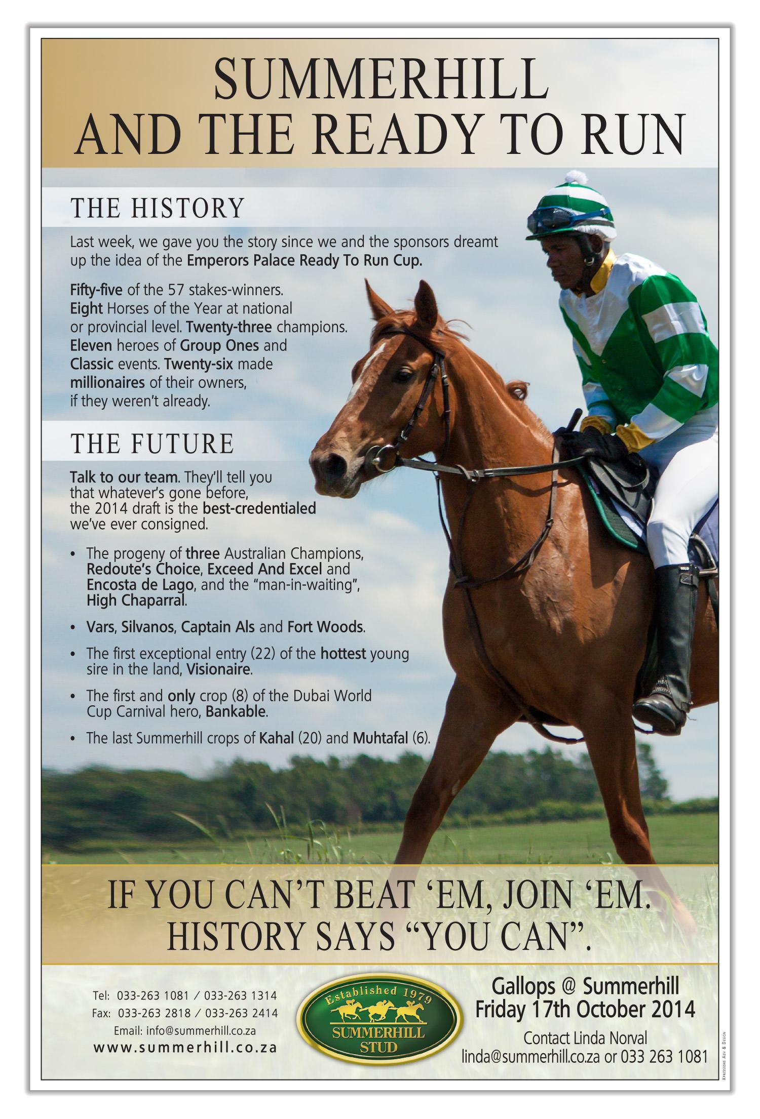 Summerhill Ready To Run Gallops 2014