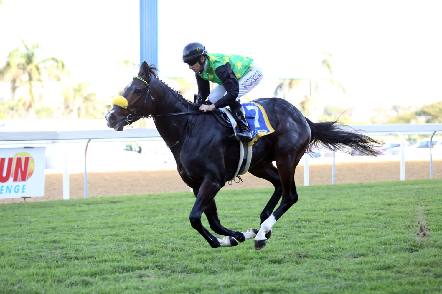Rabada wins the Gatecrasher Stakes / Sporting Post (p)