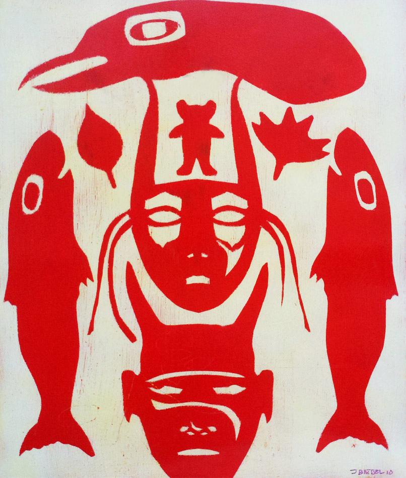 Bird, Masks and Salmon