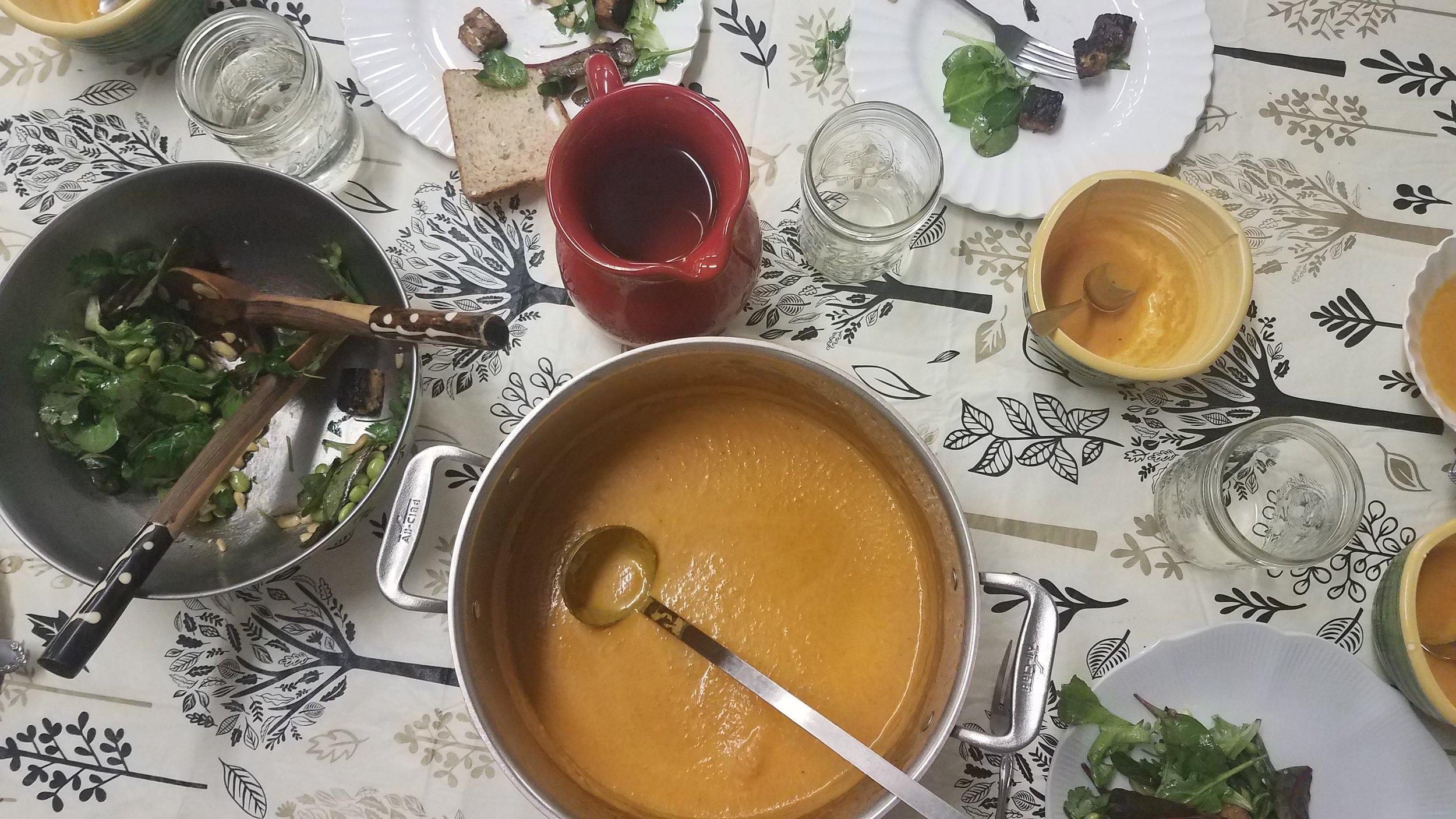 Pureed Orange Soup on Table Vertical.jpg