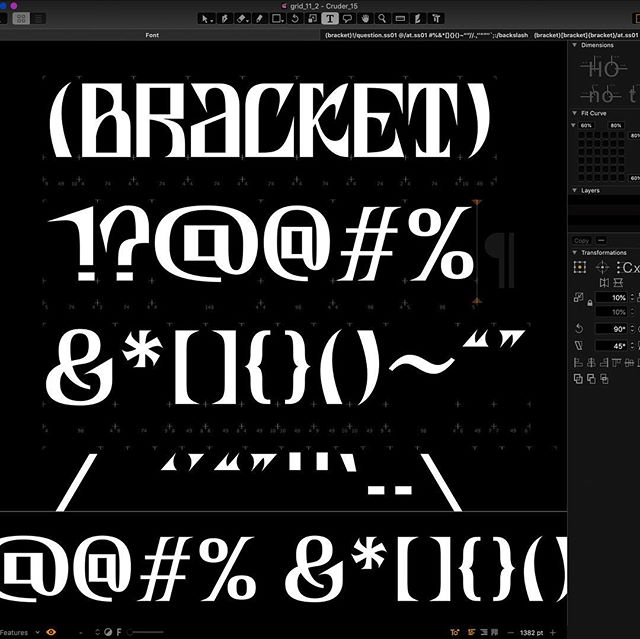 Wip. Soon. . . #typography #typedesign #graphicdesign #crude #cruder #glyphs #lettering #sick