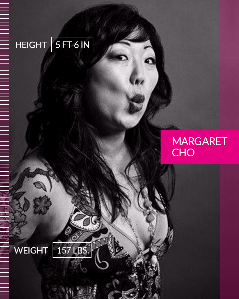 """Margaret Cho   """"I am so beautiful, sometimes people weep when they see me. And it has nothing to do with what I look like really, it is just that I gave myself the power to say that I am beautiful, and if I could do that, maybe there is hope for them too. And the great divide between the beautiful and the ugly will cease to be. Because we are all what we choose."""" ☆ Margaret Cho ☆ We are #MoreThanANumber.  • • •  Height: 5 FT 6 IN Weight: 157 LBS"""
