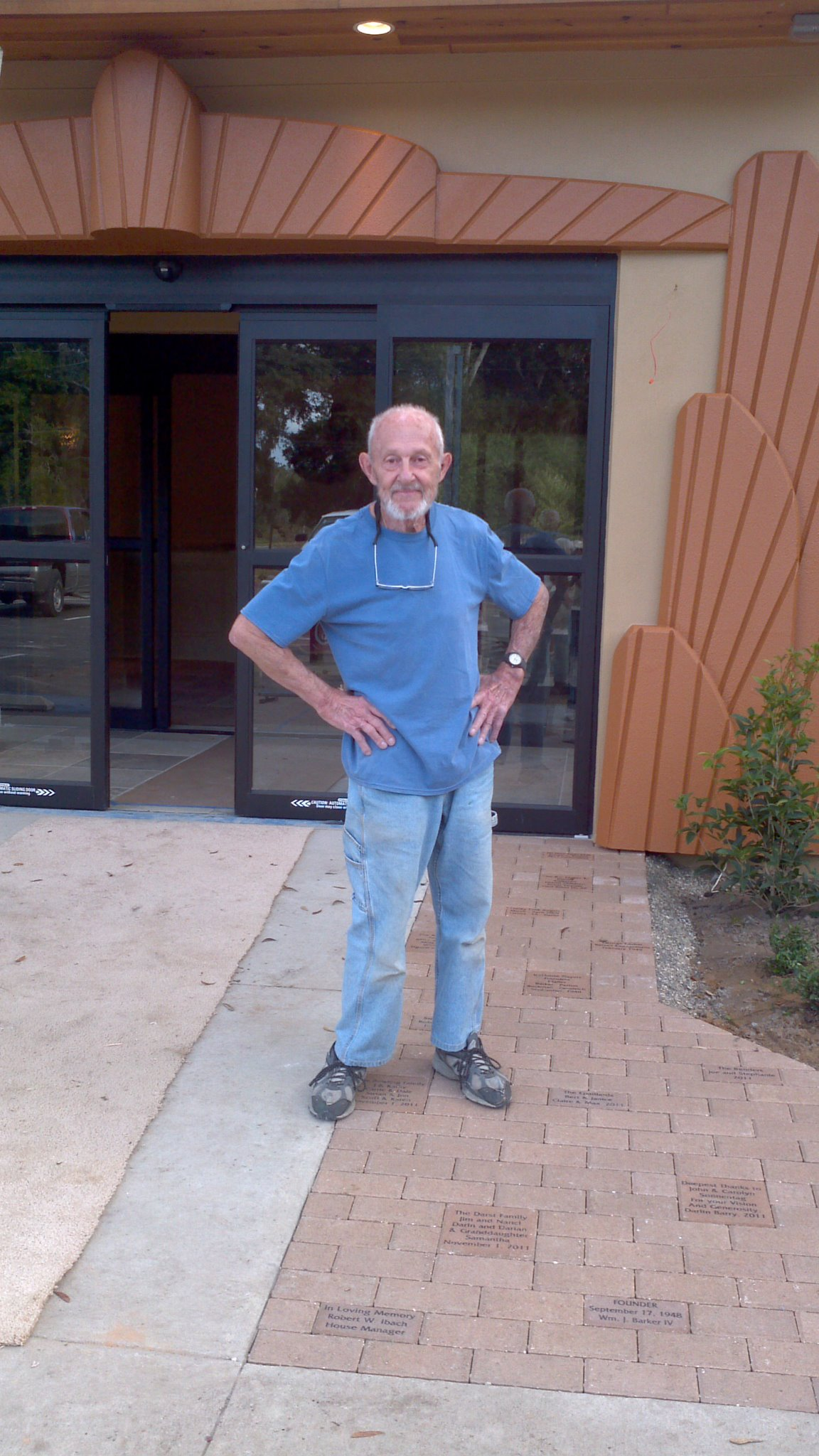 Longtime IceHouse Theatre volunteer Bernie Dedinsky