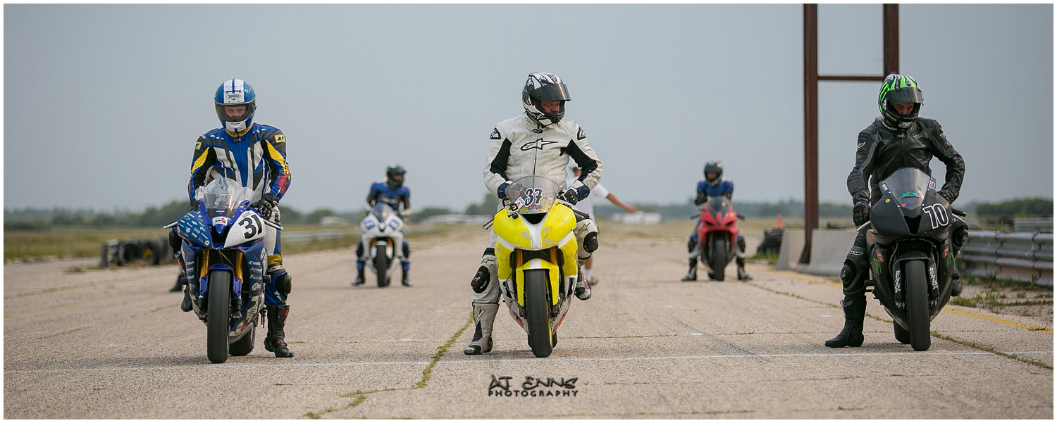 Manitoba Roadracing Association Expert and Novice racing grid
