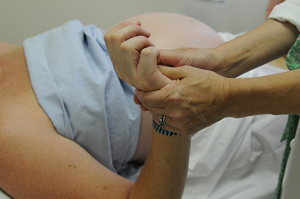 Prenatal Acupuncture Session; Photo by Dave Clark, all rights reserved