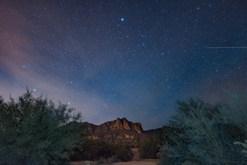 This is the same photo from above after the edit; Lost Dutchman State Park, Phoenix, AZ.