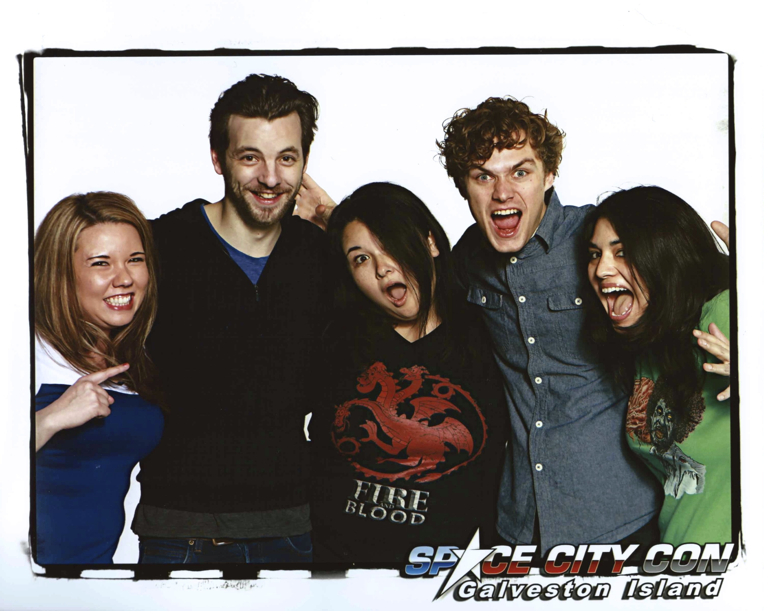 Us with Gethin Anthony and Finn Jones.  We were so happy to see these two together again!
