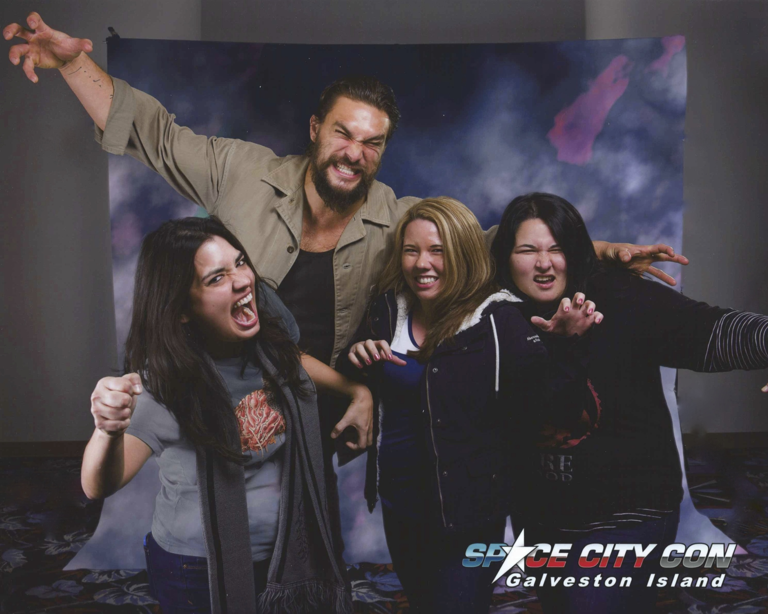 Carly, Sherri and Teresa with Jason Momoa (Khal Drogo).