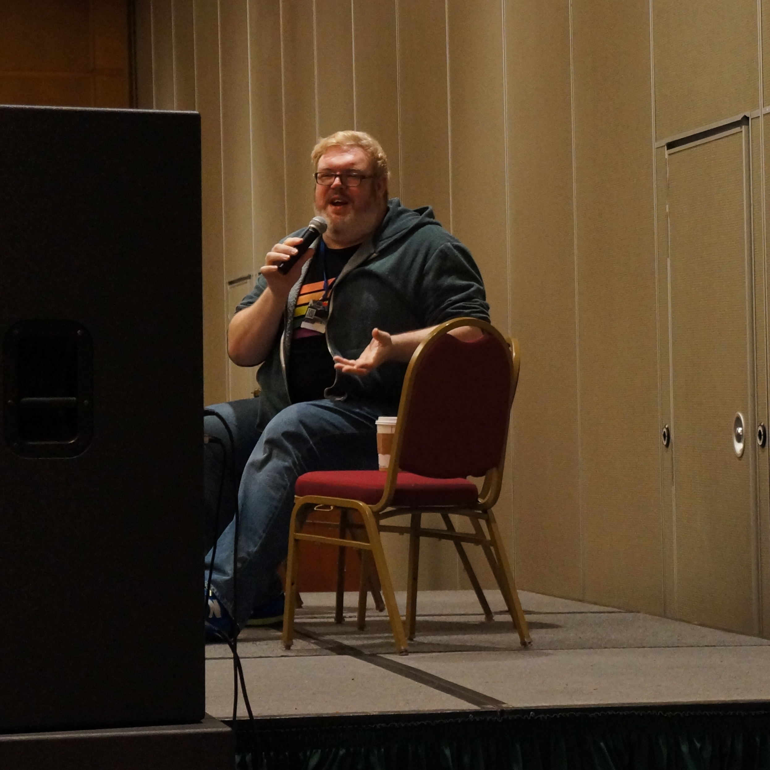 Kristian Nairn had a panel of his own.  He was so funny and personable.