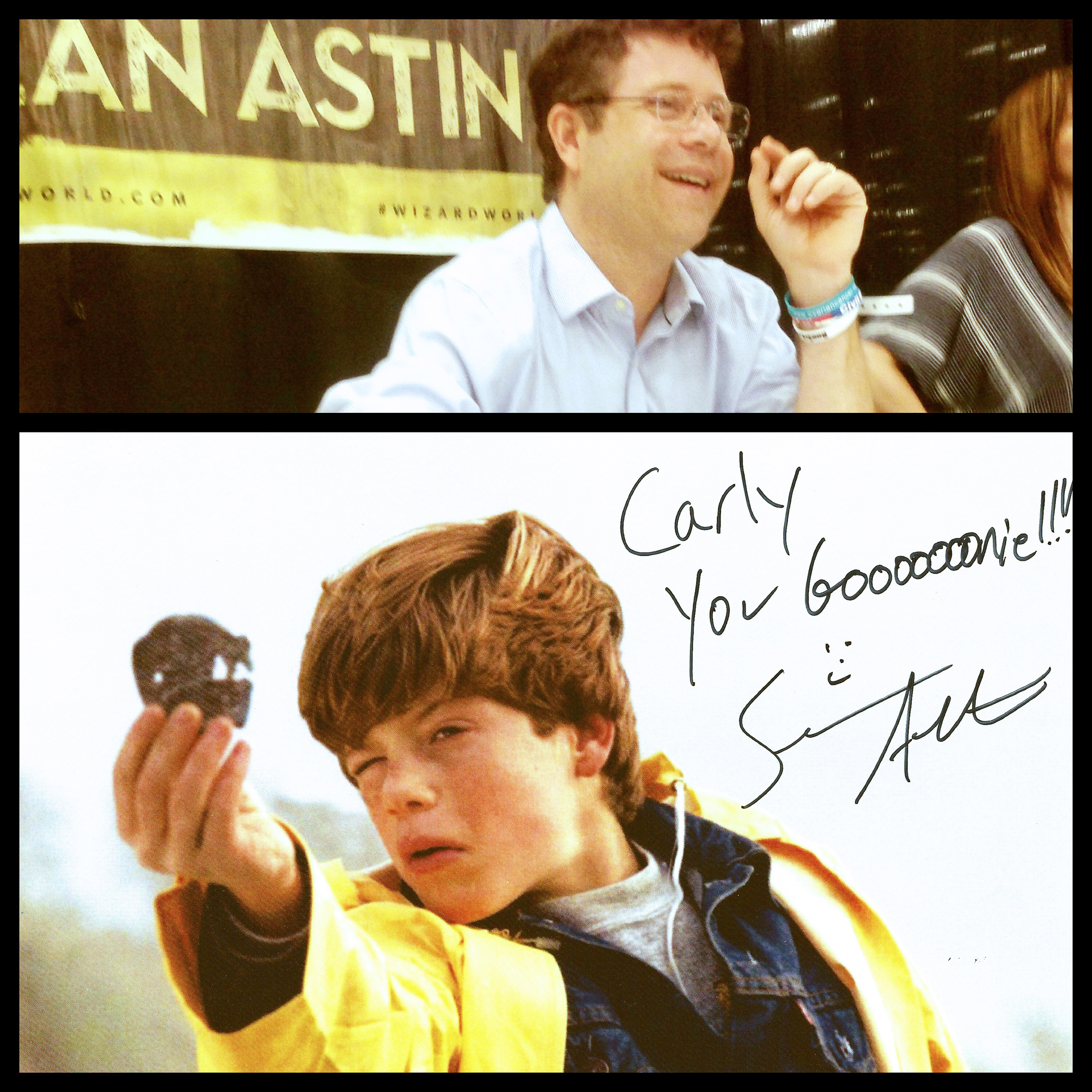 Words cannot express how excited I was to get this autograph from Sean Astin!  It could not be more perfect.