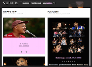 Festival videos congregated on new video streaming site  VuHaus , featuring exclusive performance videos curated by major public radio stations in seven major cities.   For KUTX
