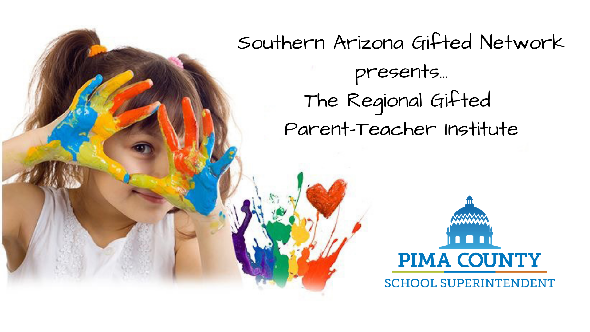 Tucson, AZ - Saturday, September 14, 2019Keynote: The Power of Self Advocacy for Gifted LearnersBreak-out sessions for educators and parentsSession hand-outs available here.