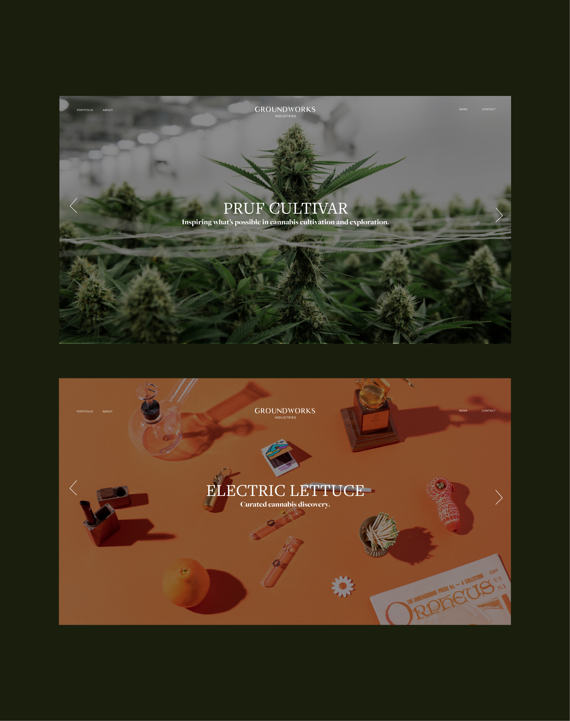 Groundworks Industries  - A website for the future of cannabis.